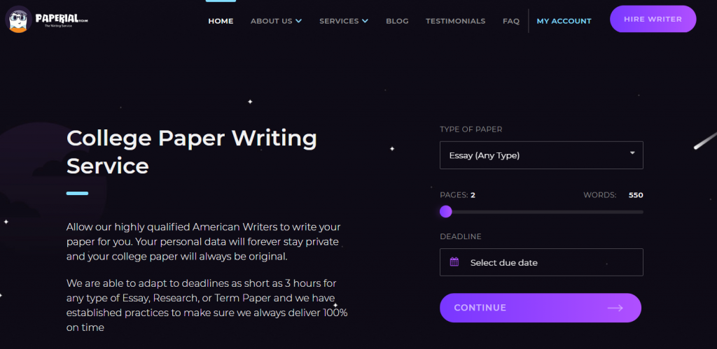 Review of Paperial.com Writing Services