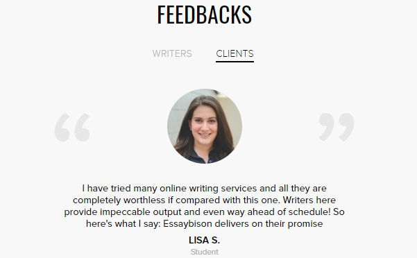 Reviews of EssayBison Writing Services