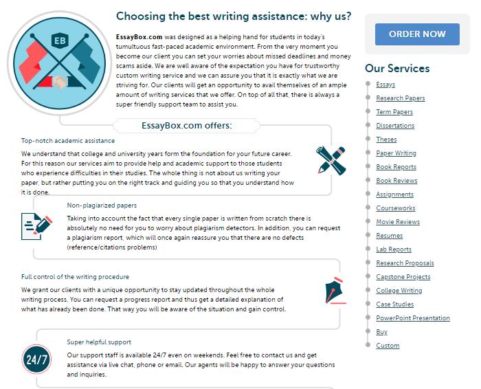 Review of EssayBox.com Writing Services