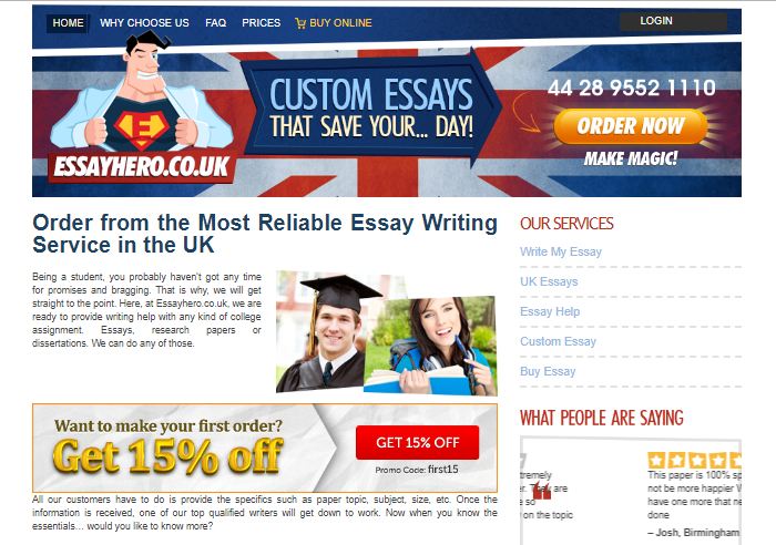 Review of EssayHero.co.uk: A Comprehensive Writing Service