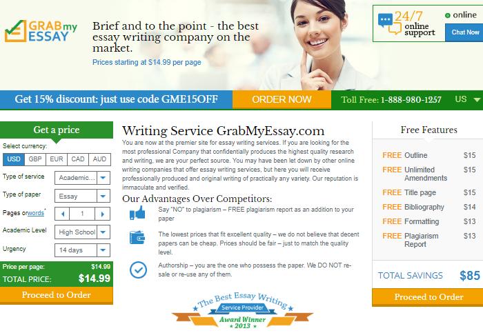 Review of GrabMyEssay.com Writing Company