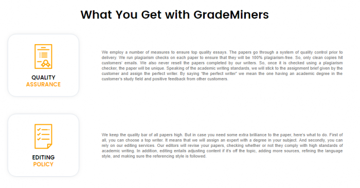 Review of GradeMiners.com Writing Services