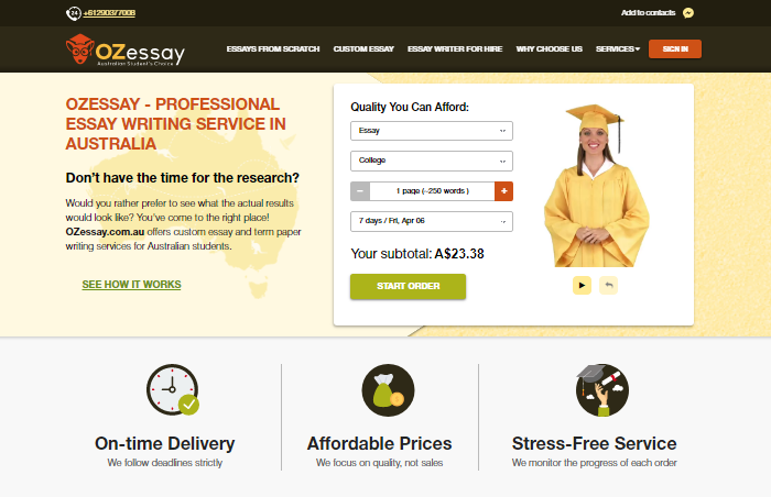 Review of OzEssay.com.au Writing Services
