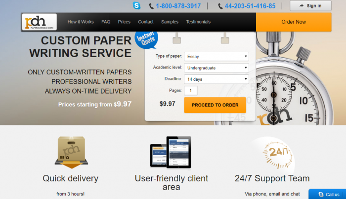 Review of PaperDueNow.com Writing Services