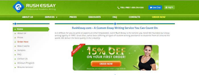Review of RushEssay.com: Unique Custom Written Papers with Flexible Discounts