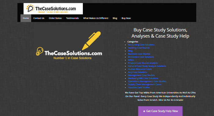 Review of CaseSolutions.com Writing Services