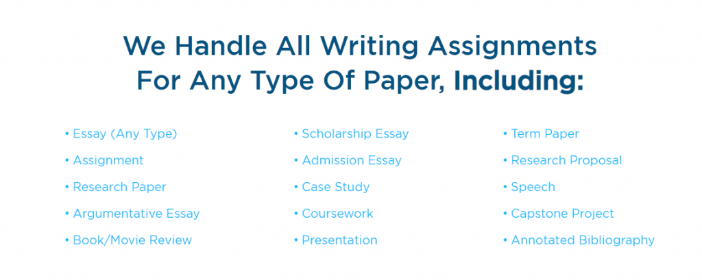 edubirdie.com review types of papers