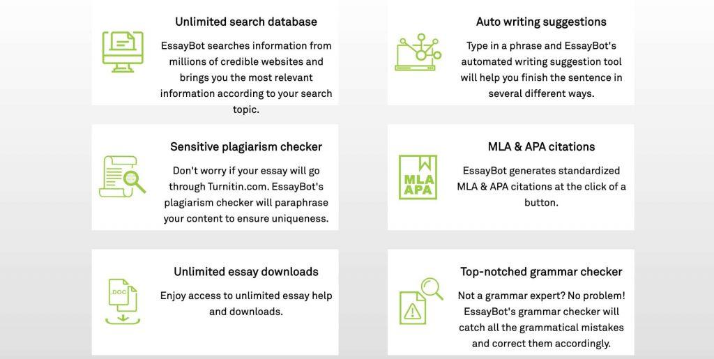 essaybot types of service